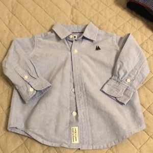 Chambray button down Janie and Jack